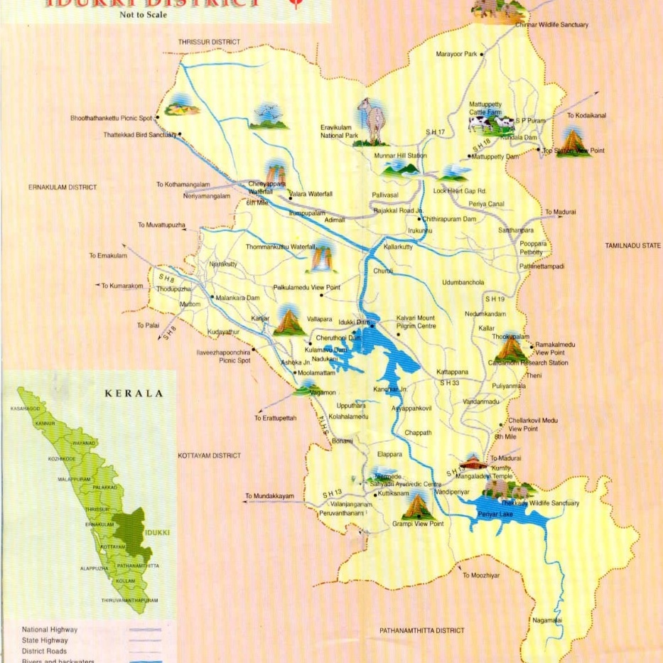 idukki-district map 2